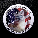 AAP - Keep America For Americats Button