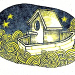 Hope Amico - Birdhouse in a Boat Postcard
