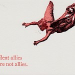 Hope Amico - Silent Allies are Not Allies Postcard