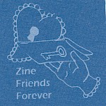 Billy McCall - Zine Friends Forever Lock-and-Key Patch