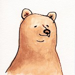 Kate Berube - Bear Greeting Card