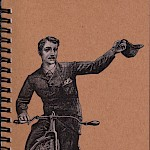 Eberhardt Press - Hello! Lined Bike Notepad